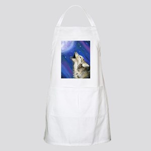 Wolf and Full Moon BBQ Apron
