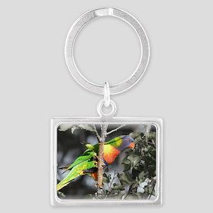 Australian Rainbow Lorikeet Landscape Keychain