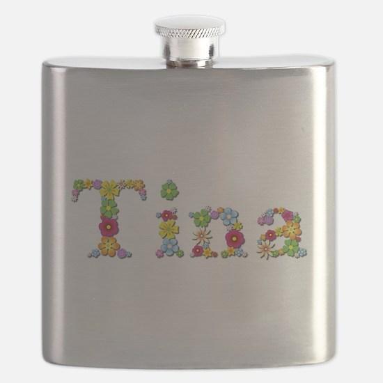 Tina Bright Flowers Flask