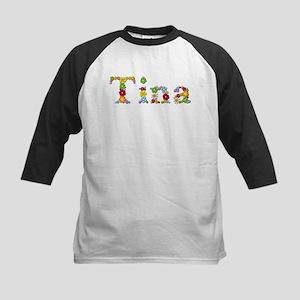 Tina Bright Flowers Baseball Jersey
