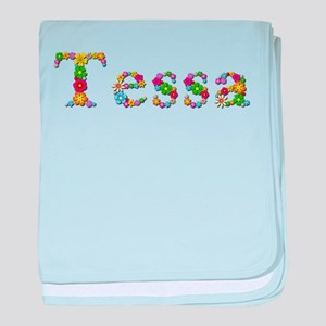 Tessa Bright Flowers baby blanket