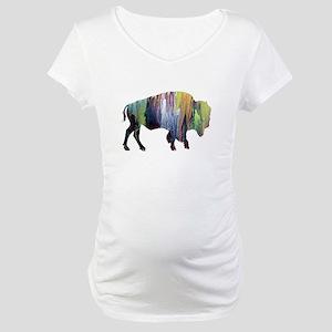 Bison / Buffalo Maternity T-Shirt