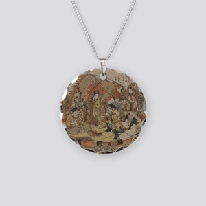 Seven Gods Of Good Fortune I Necklace Circle Charm