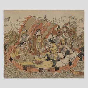 Seven Gods Of Good Fortune In The Treas King Duvet