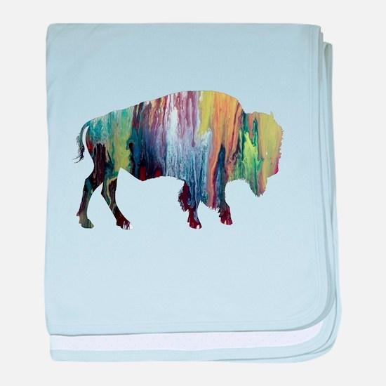 Bison / Buffalo baby blanket