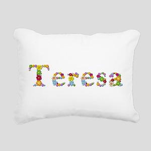 Teresa Bright Flowers Rectangular Canvas Pillow