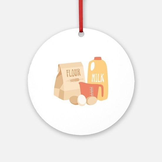 Flour Milk Ornament (Round)