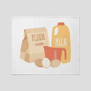 Flour Milk Throw Blanket