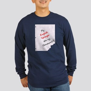 Springer Homework Long Sleeve Dark T-Shirt