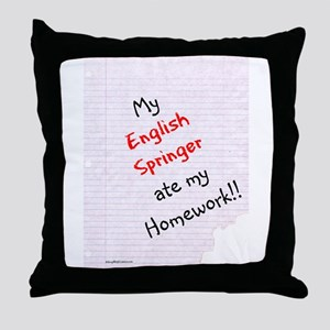 Springer Homework Throw Pillow
