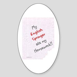 Springer Homework Oval Sticker