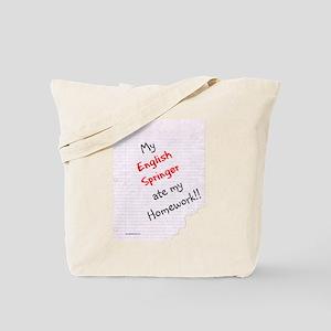 Springer Homework Tote Bag