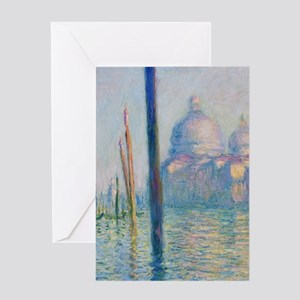 Grand Canal Venice by Monet Greeting Cards