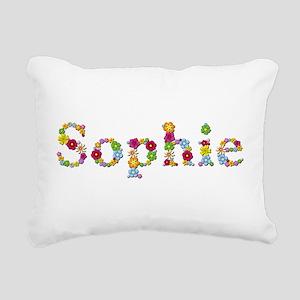 Sophie Bright Flowers Rectangular Canvas Pillow