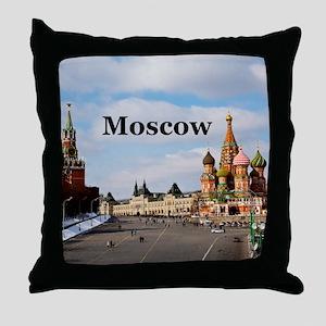 Moscow_6x6_v2_RedSquare Throw Pillow