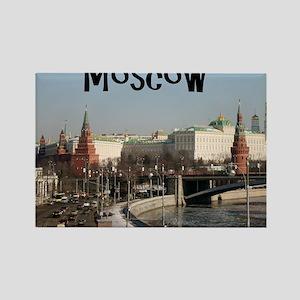 Moscow_7.5x5.5_FlatCard_Kremlin Rectangle Magnet