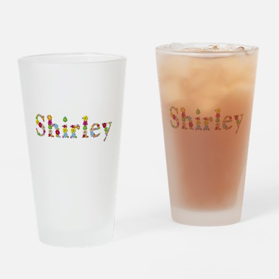 Shirley Bright Flowers Drinking Glass