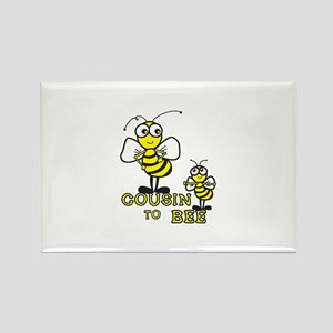 cousin to bee Rectangle Magnet
