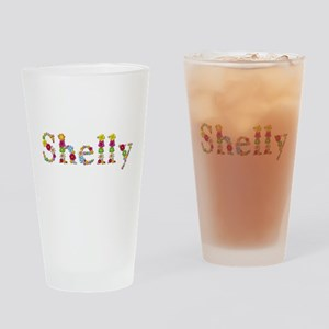 Shelly Bright Flowers Drinking Glass