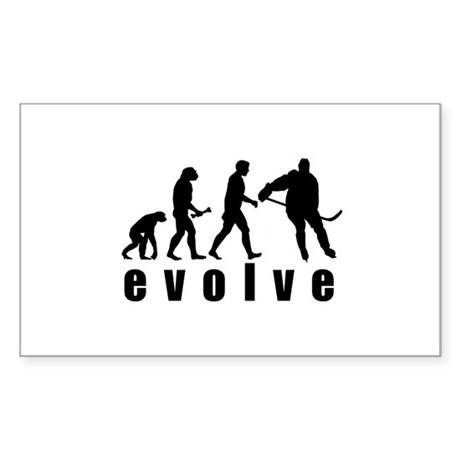 Evolve Hockey Rectangle Sticker