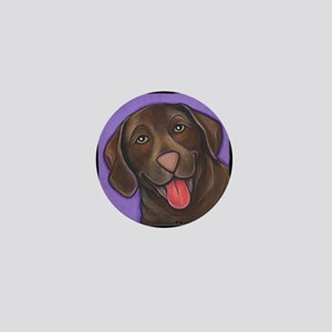 Chocolate Lab Mini Button