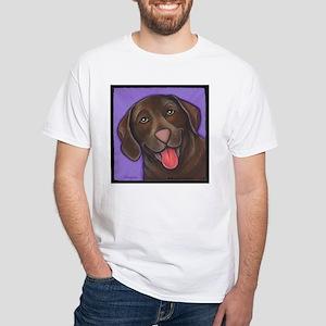 Chocolate Lab White T-Shirt