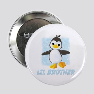 Happy Penguin Little Brother Button