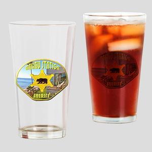Malibu Sheriff Drinking Glass