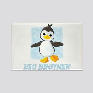 Happy Penguin Big Brother Rectangle Magnet