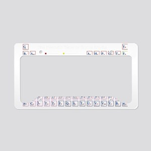 The Periodic Table of Social  License Plate Holder