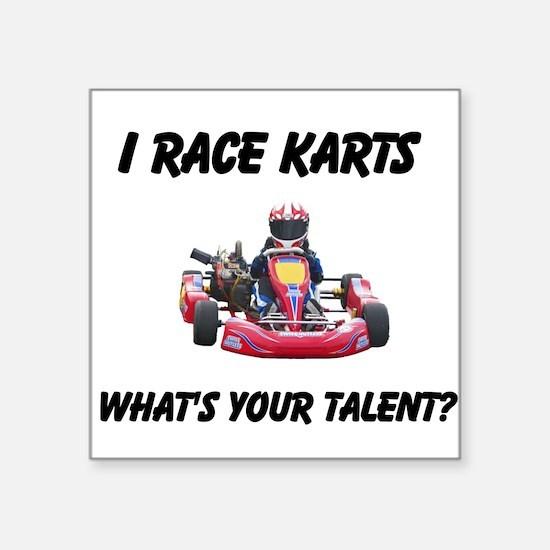 I Race Karts Sticker
