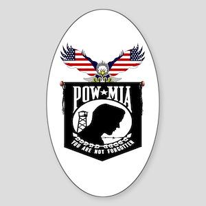 POW-MIA Oval Sticker