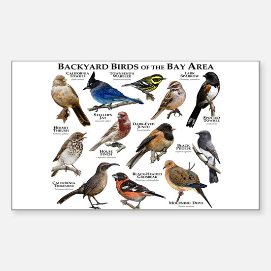 Backyard Birds of the Bay Area Sticker (Rectangle)