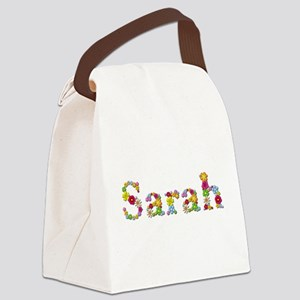 Sarah Bright Flowers Canvas Lunch Bag