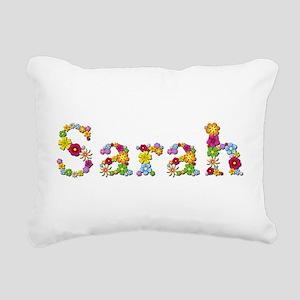 Sarah Bright Flowers Rectangular Canvas Pillow
