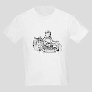 Kart Racer Pencil Sketch T-Shirt