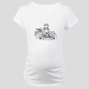 Kart Racer Pencil Sketch Maternity T-Shirt