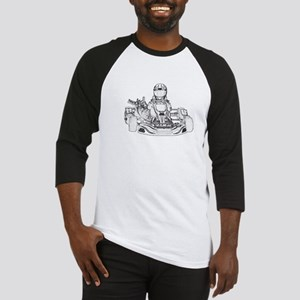 Kart Racer Pencil Sketch Baseball Jersey
