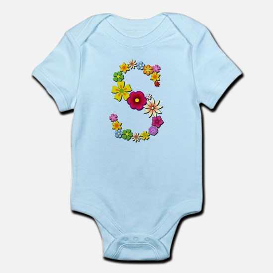 S Bright Flowers Body Suit
