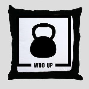 WOD Up Cross Fit  Throw Pillow