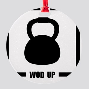 WOD Up Cross Fit  Round Ornament