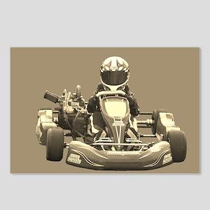 Kart Racer in Sepia Postcards (Package of 8)