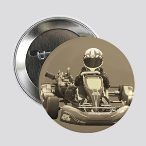 "Kart Racer in Sepia 2.25"" Button"