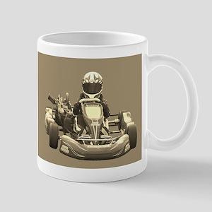 Kart Racer in Sepia Mugs