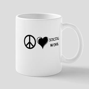 Peace,Love,Social Work Mug