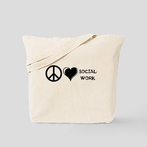 Peace,Love,Social Work Tote Bag