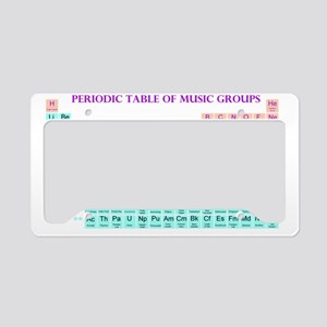 Periodic Table of Music Group License Plate Holder