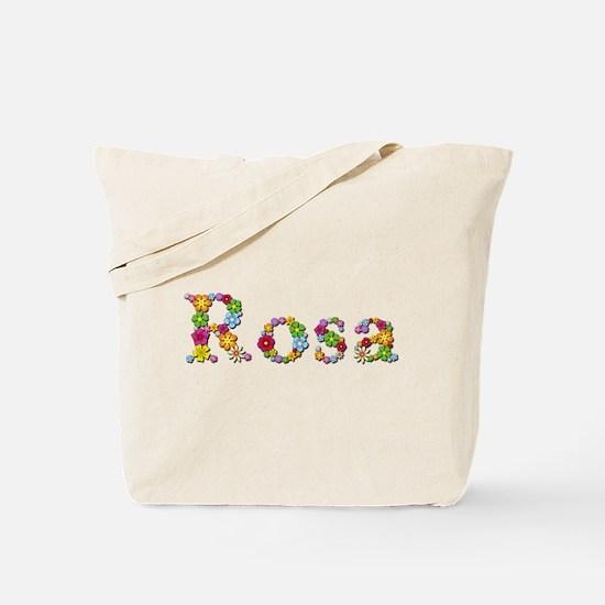 Rosa Bright Flowers Tote Bag