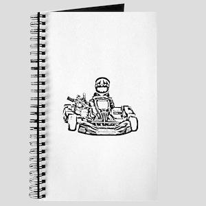 Kart Racer Dark Pencil Sketch Journal