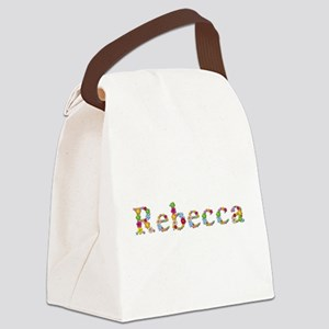 Rebecca Bright Flowers Canvas Lunch Bag